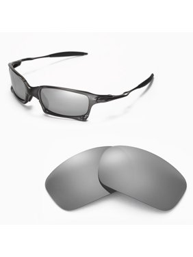 f2991a9ca1 Walleva Titanium Polarized Replacement Lenses for Oakley X Squared  Sunglasses