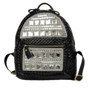 Red Gleaming Shiny Accent Zipper School Trendy Backpack