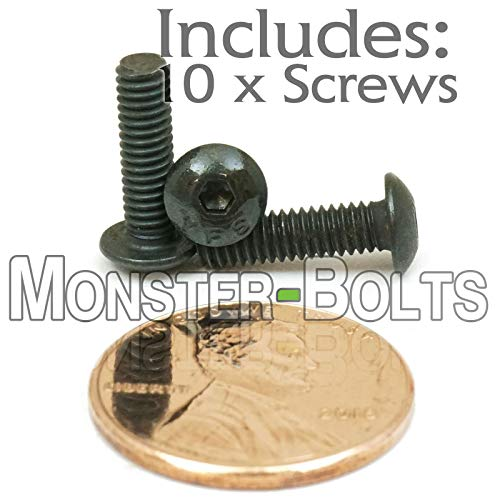 #6-40  Button Head Socket Caps Screws Alloy Steel w Thermal Black Oxide SAE Fine