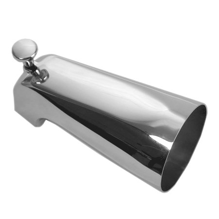 DANCO Bathroom Tub Spout with Front Pull Up Diverter, 5-Inch, Chrome Finish, 1-Pack - 3/8 Diverter Spout