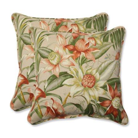 Pillow Perfect Outdoor/ Indoor Botanical Glow Tiger Stripe 18.5-inch Throw Pillow (Set of 2) ()