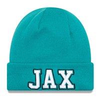 Jacksonville Jaguars New Era Barstool Beanie Cuffed Knit Hat - Teal - OSFA