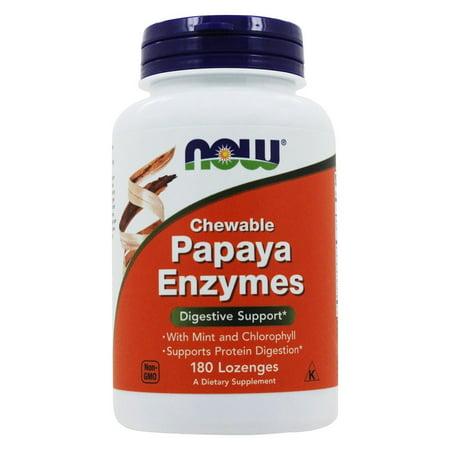 NOW Foods - enzyme de papaye à croquer - 180 Pastilles