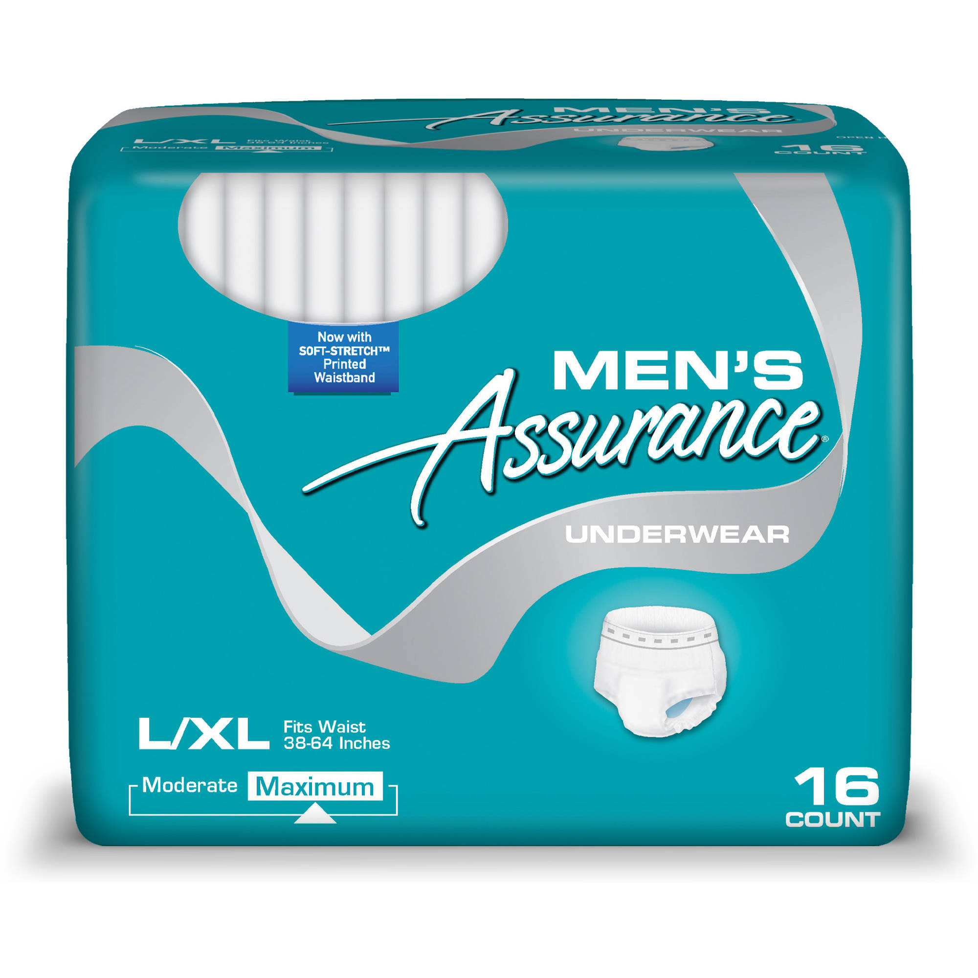Assurance For Men Maximum Absorbency Large/X-Large Underwear, 16ct