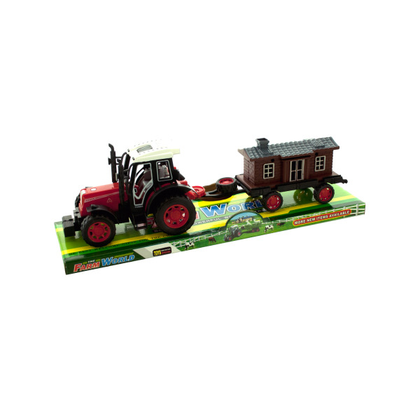 Friction Farm Tractor Truck And Trailer Set (Pack Of 4) by Bulk Buys