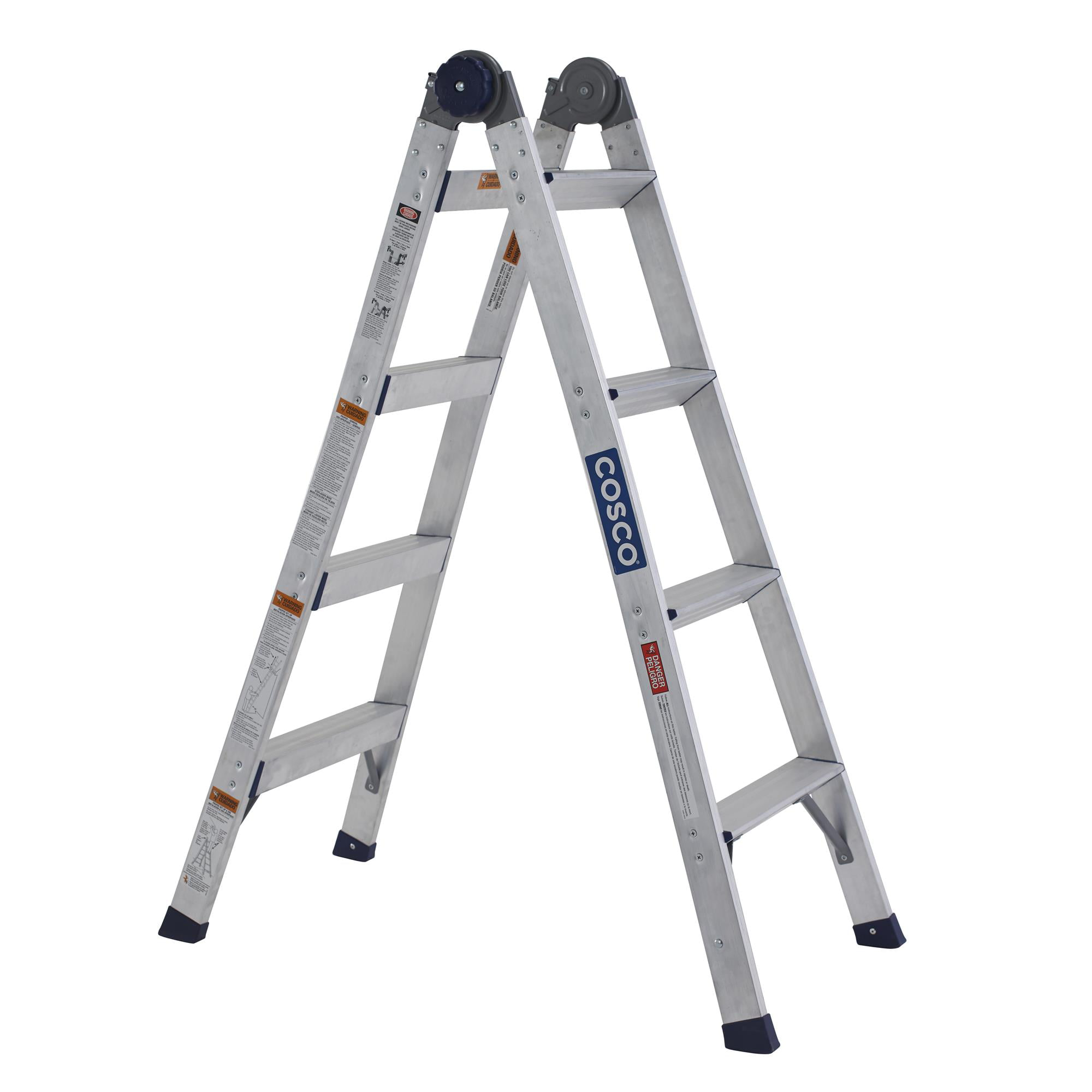 Cosco 2 In 1 Aluminum Ladder And Step Stool