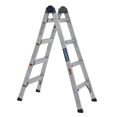 Cosco 2 In 1 Aluminum Ladder And Step Stool Walmart Com