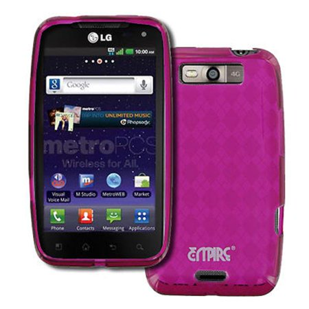 - EMPIRE LG Connect 4G MS840 Poly Skin Case Cover (Hot Pink Diamond Pattern) [EMPIRE Packaging]