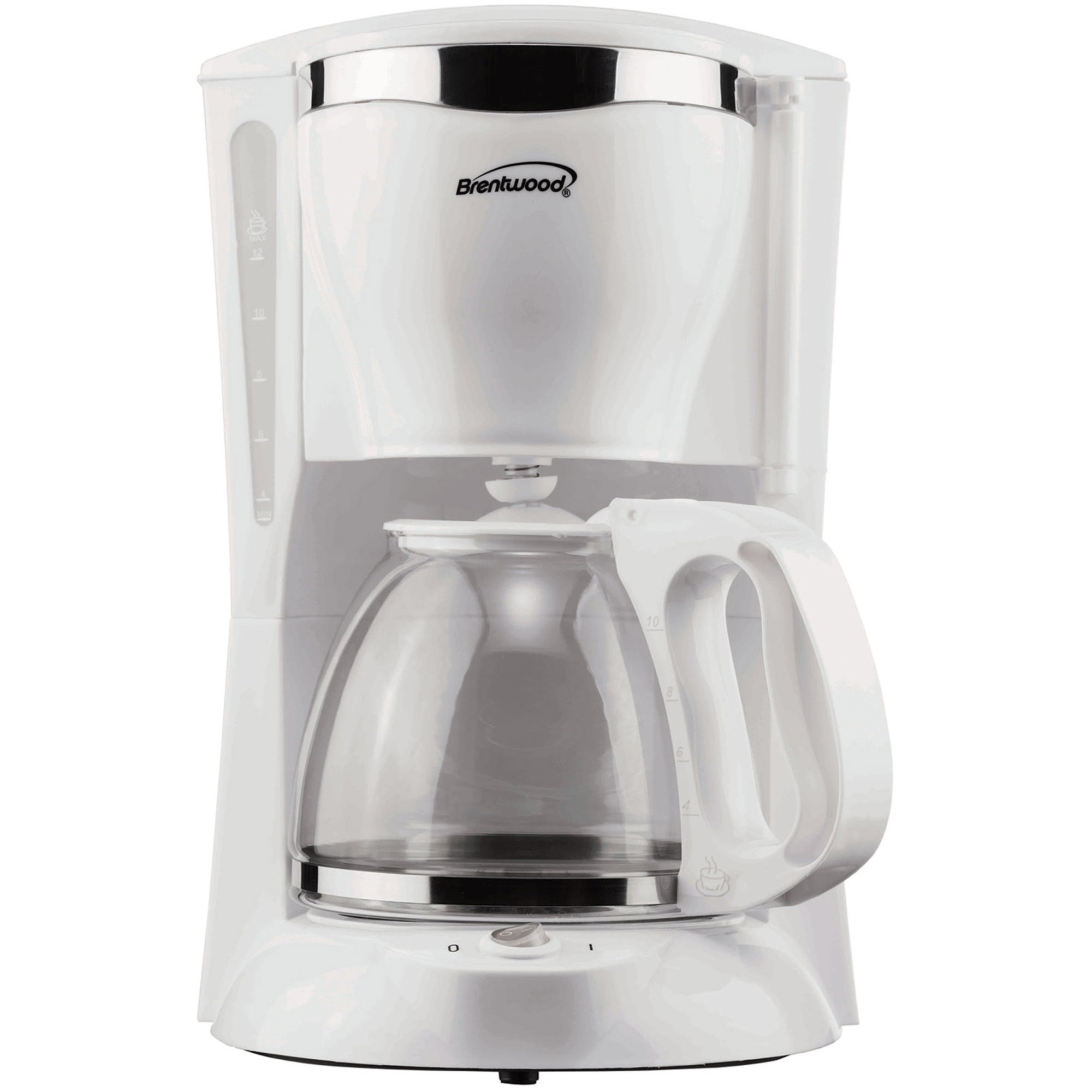Brentwood TS-216 12-Cup Coffee Maker, White