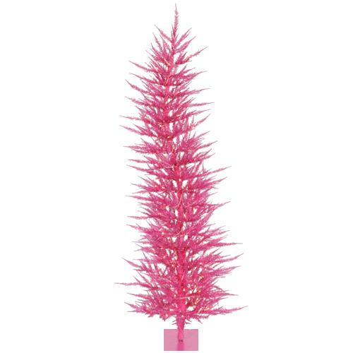 4' Pre-Lit Sparkling Whimsical Pink Artificial Christmas Tree - Clear Lights