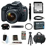 Canon EOS Rebel T5 DSLR Camera with EF-S 18-55mm IS II Lens + 32GB SD HC Memory Card + Accessory Kit