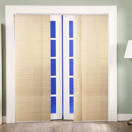 Chicology adjustable sliding panel cordless shade double for Panel tracks for patio doors
