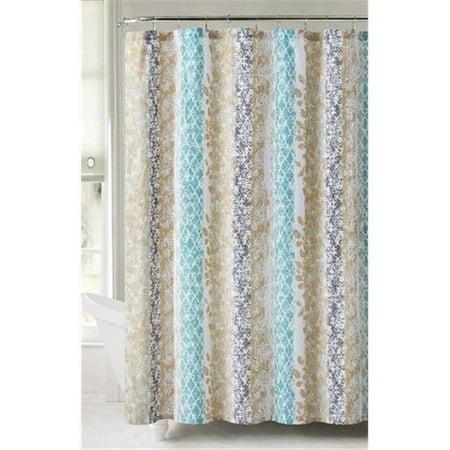 Luxury Home Amadora Shower Curtain Orange 72 X 72 Inch