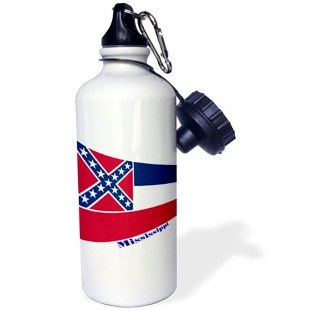 3dRose Print of Mississippi Flag In Contemporary, Sports Water Bottle, 21oz