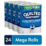 Quilted Northern Ultra Soft & Strong Toilet Paper, 24 Mega Rolls (= 96 Regular Rolls)