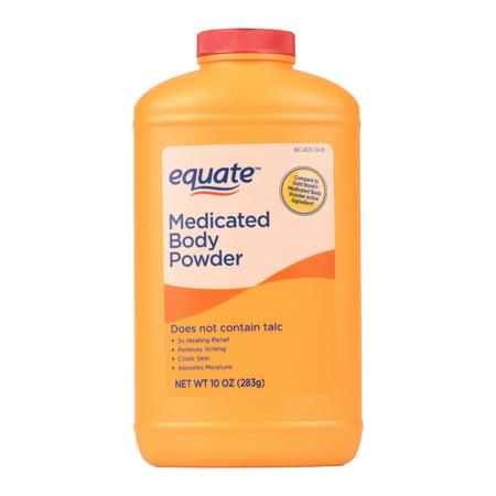 Equate, Medicated Body Powder, 10 Oz.