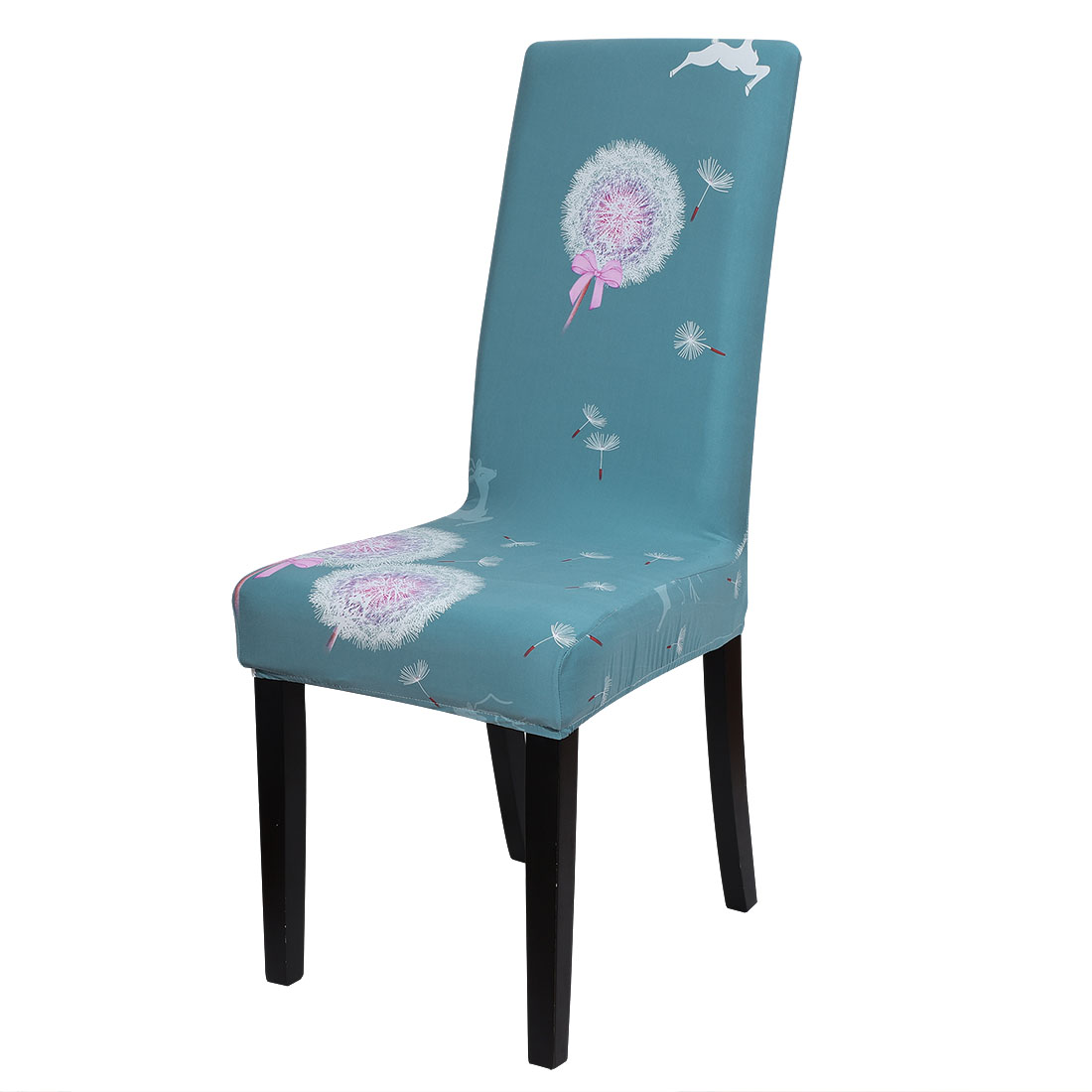 Floral Print Spandex Chair Covers Dining Room Seat ...