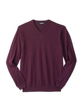 Kingsize Men's Big & Tall Lightweight V-neck Sweater