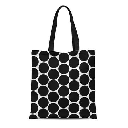 Laddke Laddke Canvas Tote Bag Chic Modern Polka Large