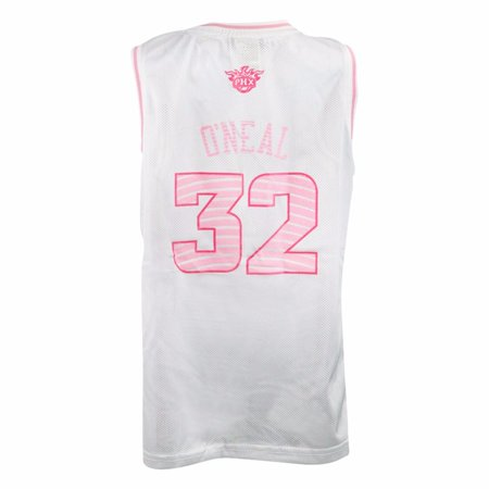Authentic Nba Basketball Jersey - Shaquille O'Neal Phoenix Suns NBA Adidas White Official Fan Fashion Pink Basketball Jersey For Girls