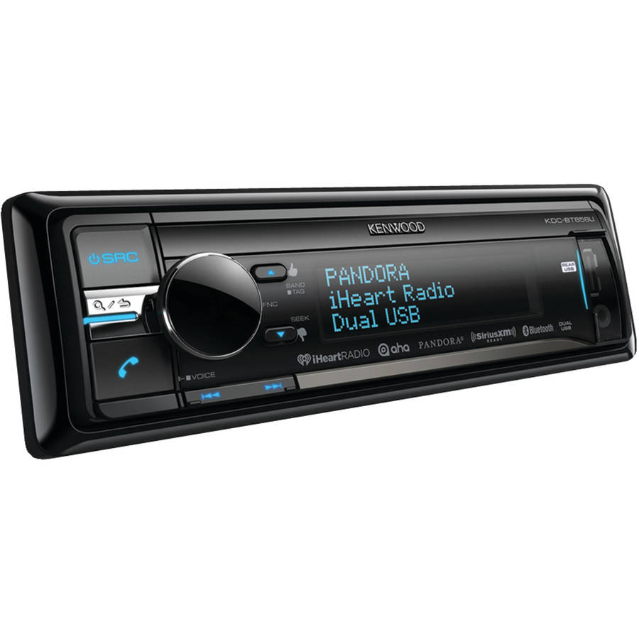Kenwood KDC-BT858U Single-DIN In-Dash CD Receiver with LCD Screen, Built-In Bluetooth