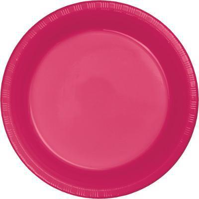 Creative Converting Hot Magenta Pink Plastic Plates, 20 ct - Pink Square Plates