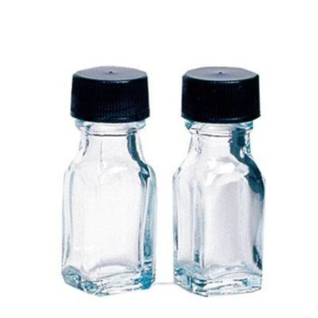 Dram Glass (1 dram (0.125 oz.) Clear Square Glass Bottles with Caps 24 pack)