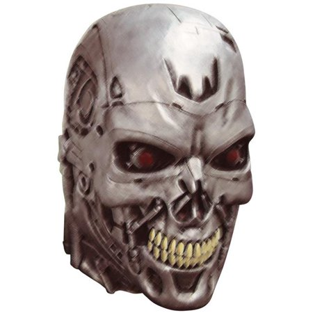 Terminator 2 Endoskull Mask Set Adult Halloween Accessory (Terminator Makeup Halloween)