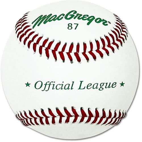 MacGregor #87 Official Split Leather Baseball, Dozen