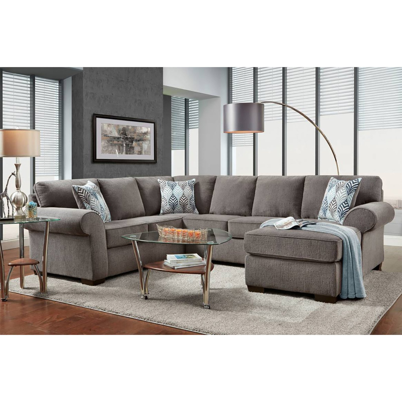 Chelsea Home Furniture Roosevelt 2 Piece Sofa with Chaise Sectional