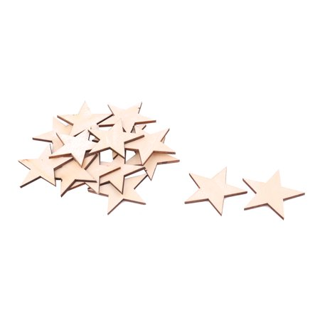 Wooden Star Shaped DIY Craft Christmas Tree Ornaments 50 x 50mm 15pcs](Tree Craft)