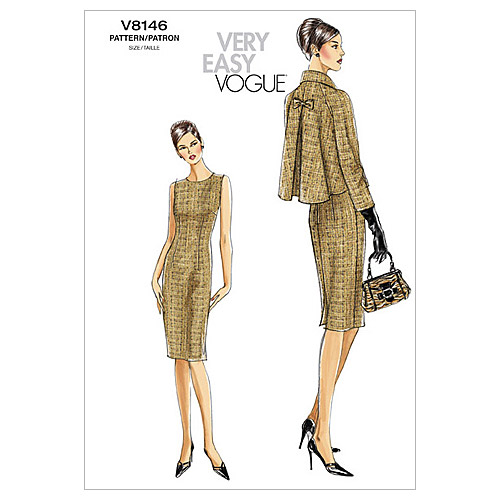 Vogue Pattern Misses' and Misses' Petite Jacket and Dress, AA (6, 8, 10, 12)