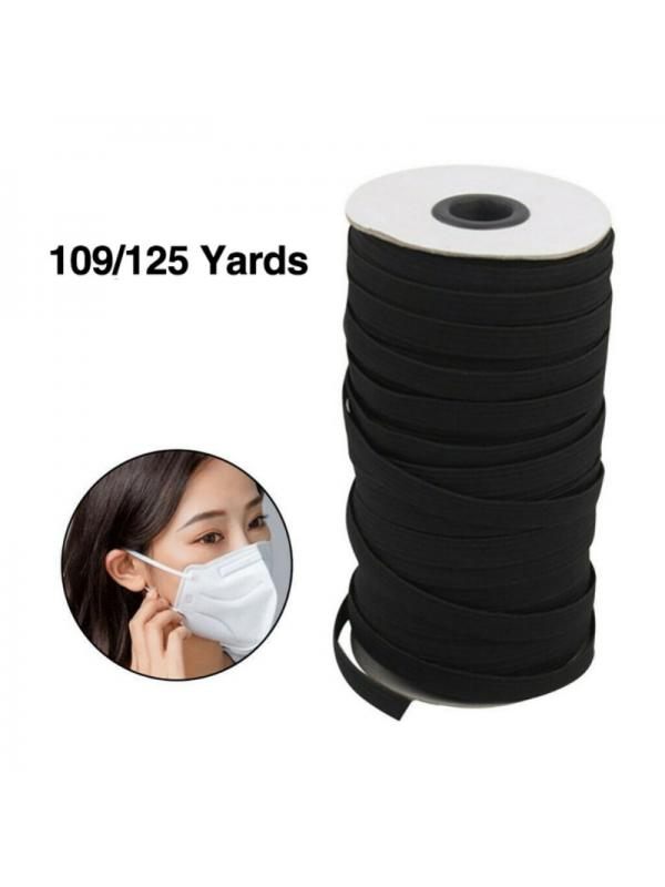 1//8 1//4 Inch White Black Elastic Band String 54 Yards Sewing Cord String HOT!
