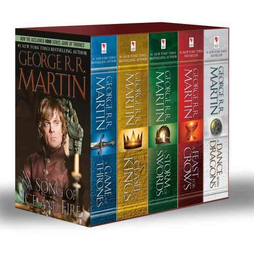 A Song of Ice and Fire: A Game of Thrones, a Clash of Kings, a Storm of Swords, a Feast for Crows, and a Dance With Dragons