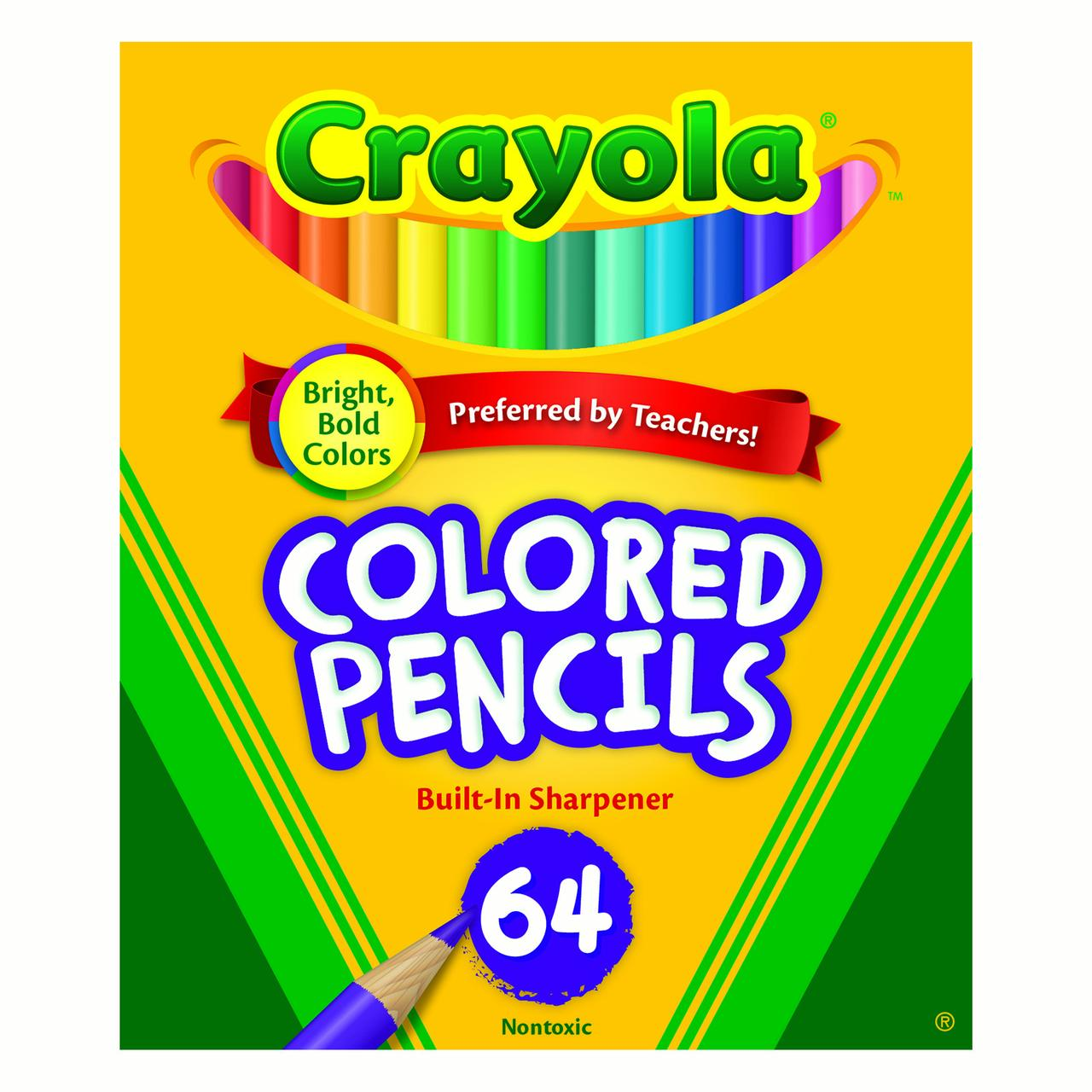 Crayola Mini Colored Pencils in Assorted Colors, 64 Count by Crayola