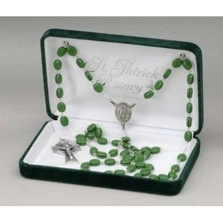Saint Patrick Irish Glass Beaded Rosary 25