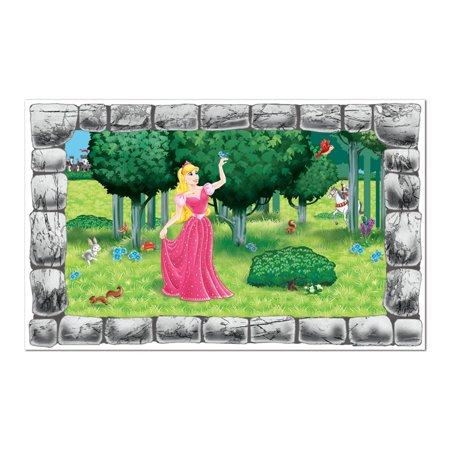 Pack of 6 Princess and Friendly Forest Animals Party Theme Wall Decoration 62