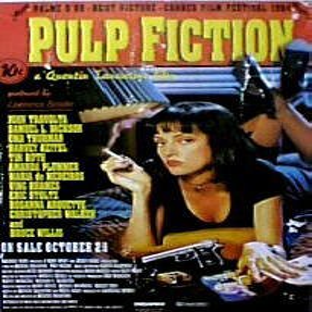 Pulp Fiction Movie Poster - Uma Thurman New 24x36 (Fall Out Boy Uma Thurman 1 Hour)