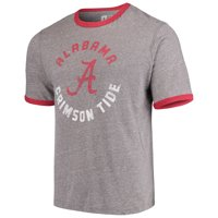 6e04824cf106 Product Image Men s Russell Heathered Gray Alabama Crimson Tide Athletic  Fit Crew Neck Tri-Blend T-
