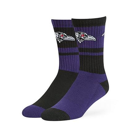 NFL Baltimore Ravens Wentworth Crew Crew Socks by Fan Favorite Baltimore Ravens Womens Socks