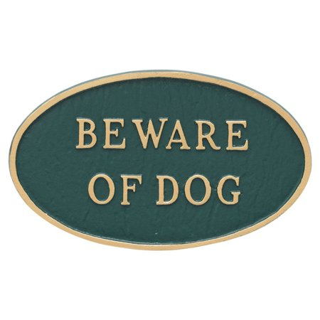 Montague Metal Products Beware of Dog Oval Wall