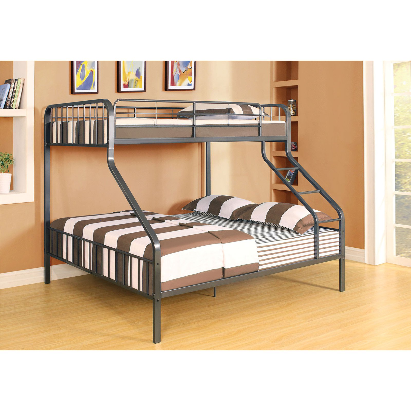 Caius Twin/Queen Bunk Bed, Gunmetal, Box 2 of 2