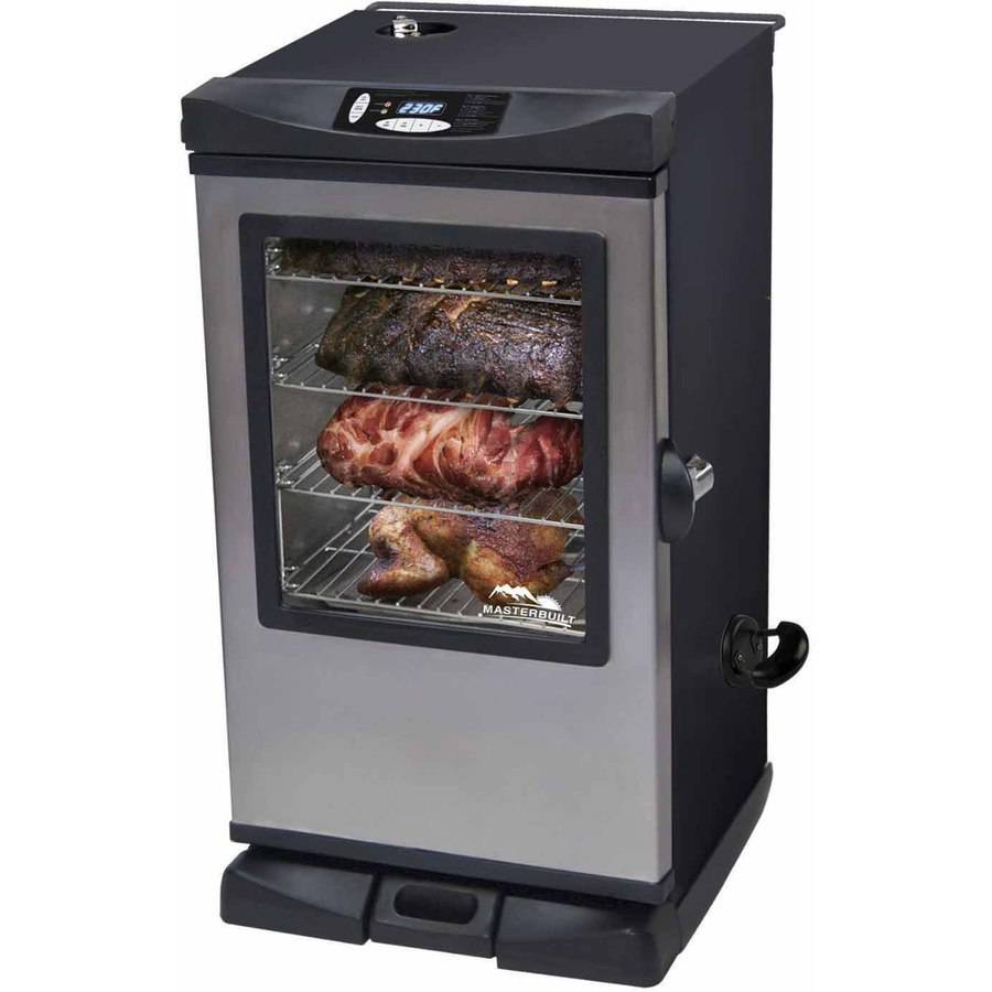 Masterbuilt Front Controller Electric Smoker with Viewing Window and Remote, 30""