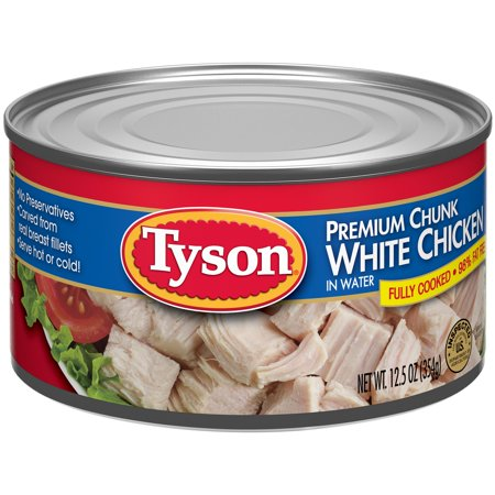Tyson Premium White Chunk Chicken Breast In Water  12 5 Oz