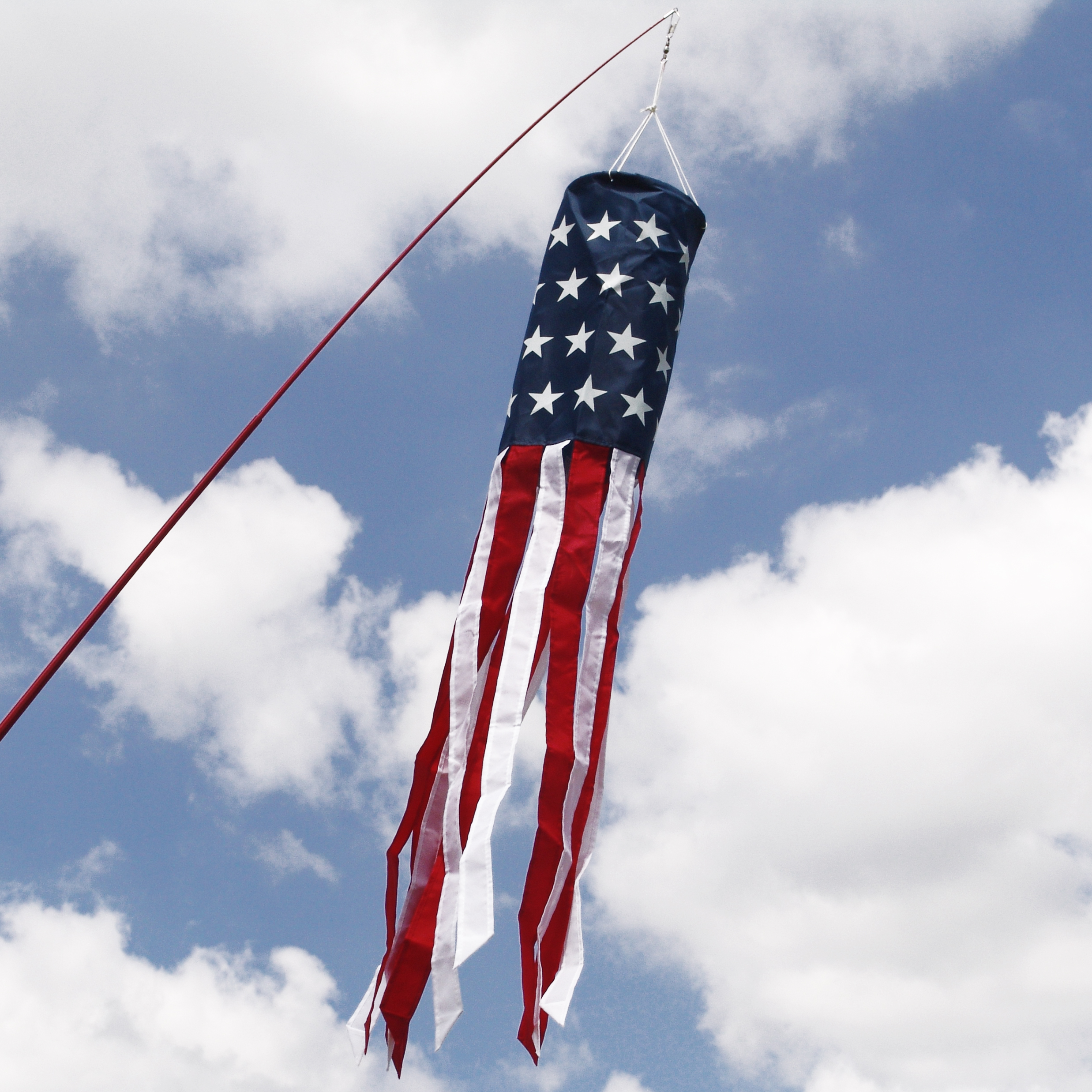 American Flag 40 Inch Windsock Printed Stars Wind Sock by In The Breeze