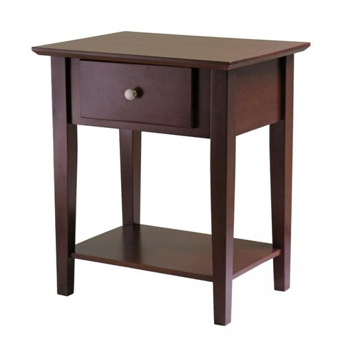 Winsome Wood 94922 Shaker Nightstand, Antique Walnut