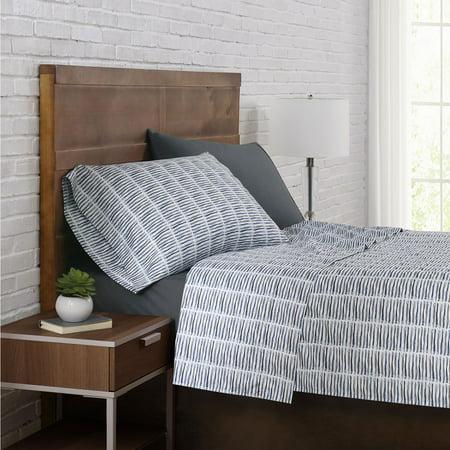 Brooklyn Loom 12 Piece Sheet Set King Slide Stripe Slate