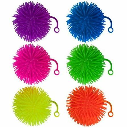 Set of 6 Jumbo 5 Light Up Puffer Ball Yo-Yos - Yoyo Ball