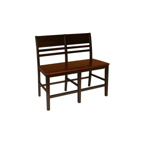 Neo Classic Furniture (New Classic Furniture Latitudes Two Tone Horizontal Slat Back Counter Height Bench)