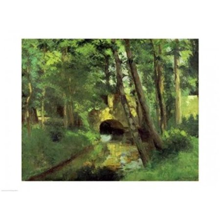 Posterazzi BALBAL777LARGE The Little Bridge Pontoise 1875 Poster Print by Camille Pissarro - 36 x 24 in. - Large - image 1 of 1
